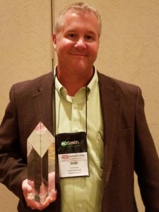 Scott Kellam received the prestigi National HVAC Contractor of the Year Award in San Antonio, Texas
