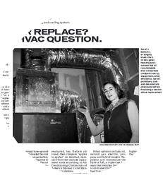 Sarah Kellam of Kellam of Mechanical - Article:TO SERVICE OR REPLACE? THAT IS THE HVAC QUESTION