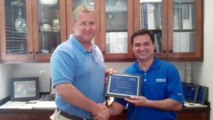 On April 17th, 2013, Kellam Mechanical was awarded the 2012 Top York Dealer Award today for the state of Virginia. This marks the 10th consecutive year that Virginia Air Distributors has presented Scott Kellam with this award. Pictured are Scott Kellam, President and Ed Zednik, Virginia Air Distributors Territory Manager.