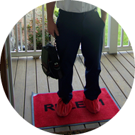 Kellam technicians always lie down a red carpet and cover their shoes with booties to protect your floors and carpets from dirt and debris.