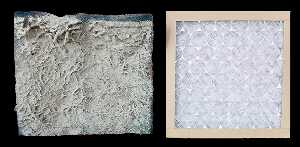 Dirty and Clean Air Filter (side by side)