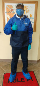 Kellam Mechanical technician wearing PPE